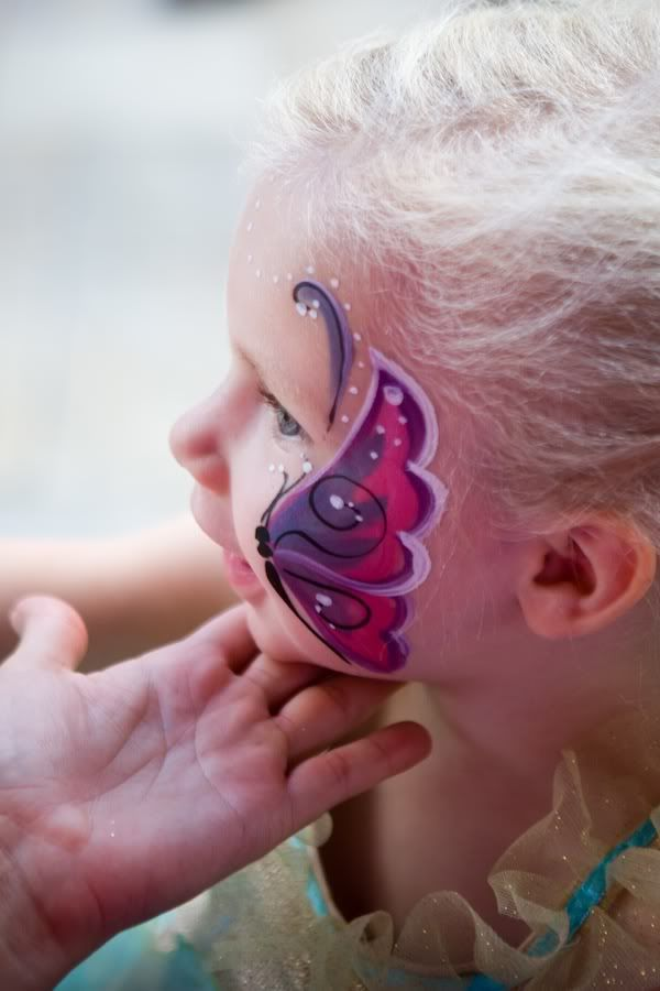 Pretty Butterfly Facepainting!  Great for kids!  Not too close to eye.