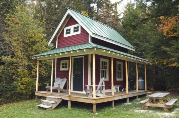 160 SF Shed Cabin in Vermont 001