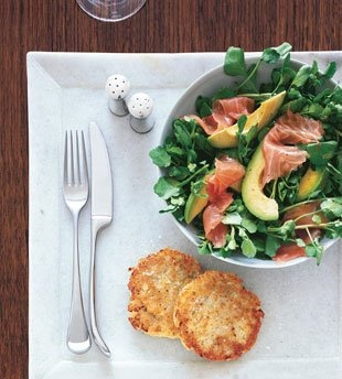 salad with watercress salmon avocado watercress and pumpkin seed salad ...