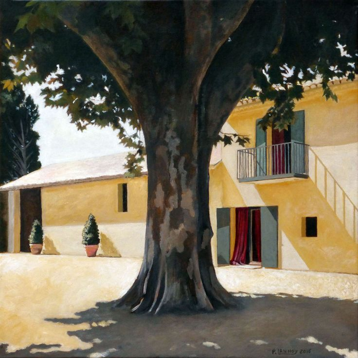 """Extérieur N°6 - Acrylic on canvas - 40 x 40 cm 15""""3/4 x 15""""3/4 - 296 €"""