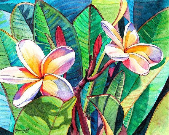 Kauai Plumeria Garden print 8x10 from Kauai Hawaii by kauaiartist, $22.00