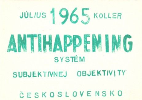 "Julius Koller,""Anti-Happening"", 1965."