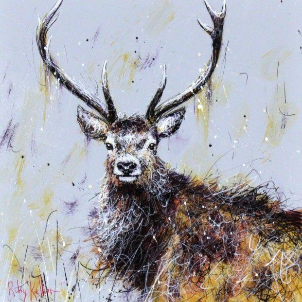 Ruby Keller, Alert III, Acrylics | Contemporary Scottish Art