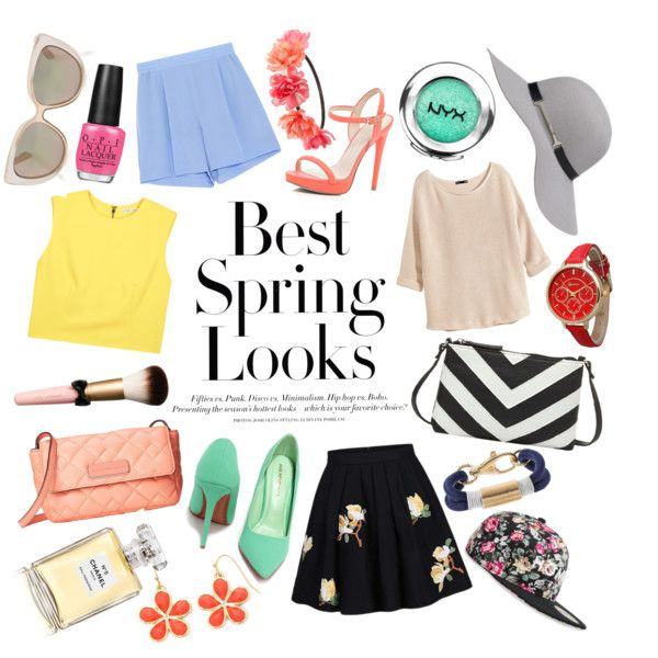Best Springs Look by yunita327 on Polyvore featuring Alice + Olivia, H&M, STELLA McCARTNEY, River Island, Charlotte Russe, MARC BY MARC JACOBS, Olivia Pratt, Liz Claiborne, Apt. 9 and Jimmy Choo