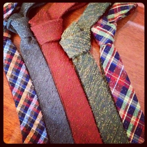 Skinny ties for Fall '12: Autumn Winter, Bow Ties, Casual Ties, Texture, Skinny Ties, Flecked Skinny, Autumn 2012, Fall 12, Baker Autumn