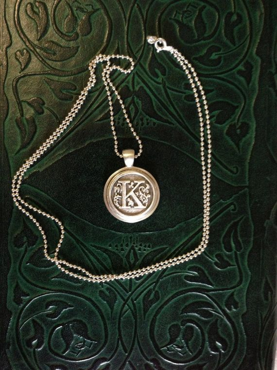Sterling Silver Monogram Pendant by BabblingBee on Etsy, $120.00