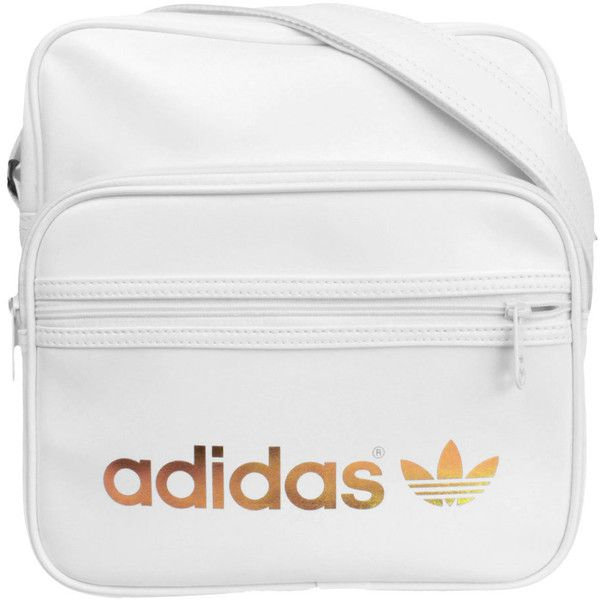 177d5d020ae4 Adidas AC Sir Bag Messenger W68804 (white gold) (1390 TWD) ❤ liked on  Polyvore featuring bags