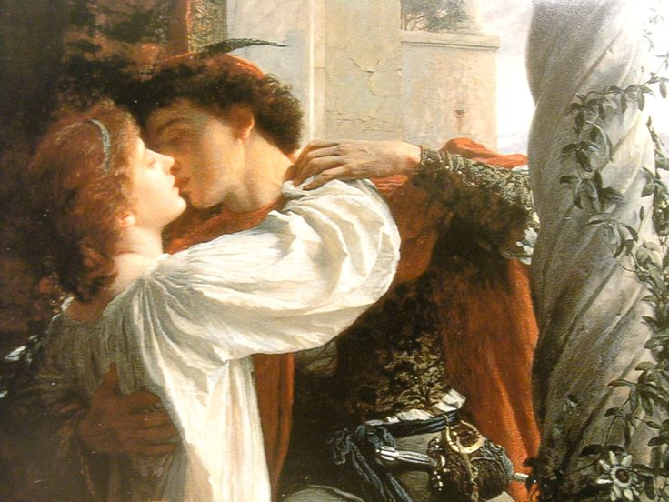 detail 1884 painting of Romeo and Juliet by Frank Bernard