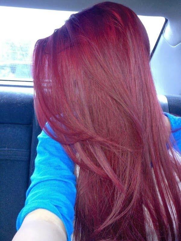 aperu couleur violine sur cheveux longs - Violine Coloration