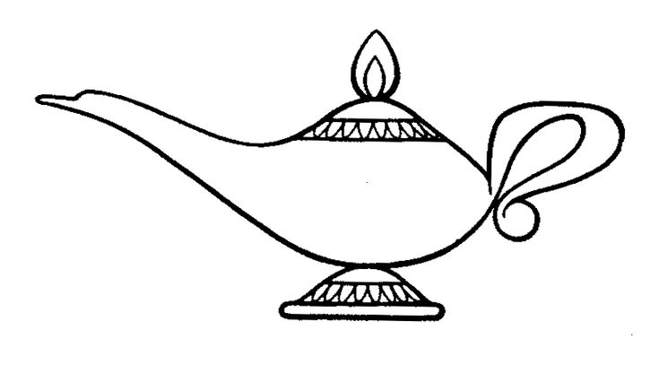 genie lamp drawing - Google Search