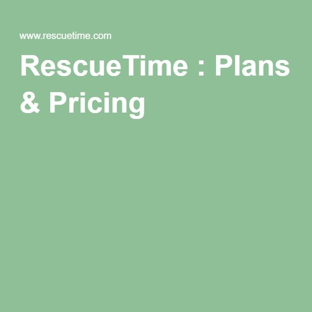 RescueTime : Plans & Pricing