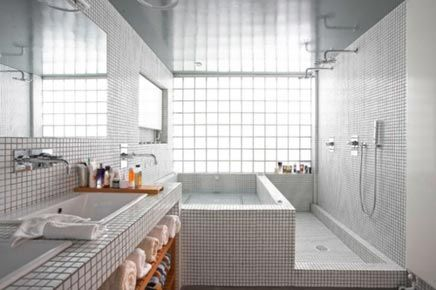 Badkamer van mozaïek