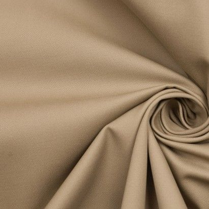 Pebble Beige Heavy Cotton Twill Fabric by the Yard | Mood Fabrics