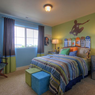 Boys Room Design Ideas, Pictures, Remodel, and Decor - page 19 I like the blue, green and gray combo