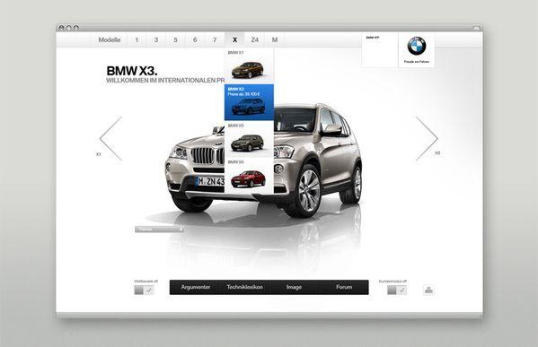 BMW Sales Tool by Martin Oberhäuser, via #Behance #Webdesign