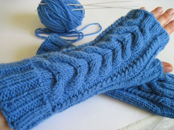 Holiday gift for her gloves and mittens fashion accessory Valentine's gift idea for mom warmers women gift for teen xmas gift blue mittens