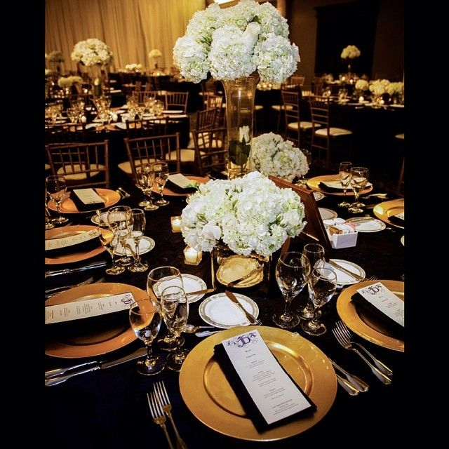 Black And Gold Wedding Tablescape The Coordinated Bride Thecoordinatedbride Instagram Photos