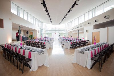 Ceremony And Reception In Same Room Tables Already