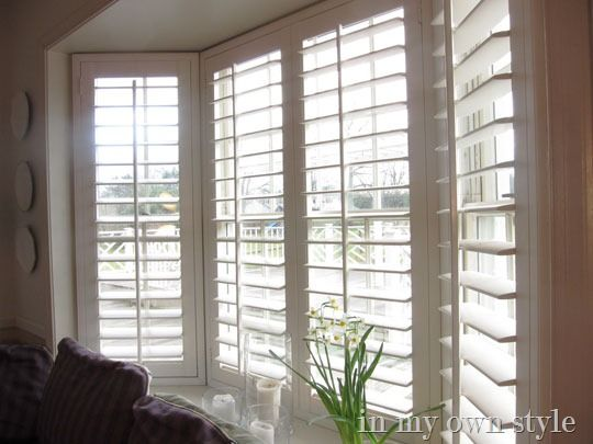 25 best ideas about bay window treatments on pinterest for Window blinds with designs