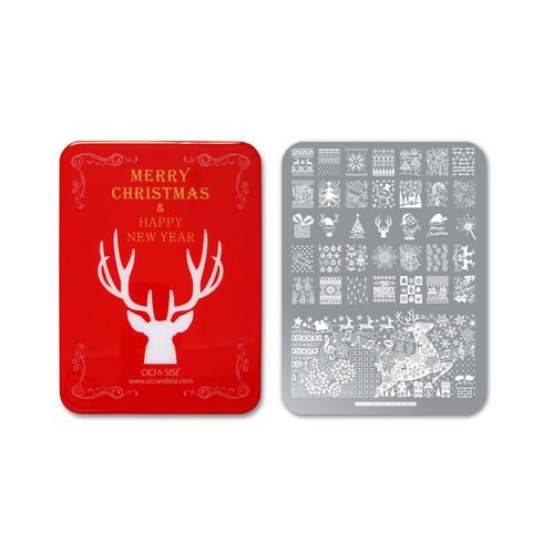 CICI&SISI Nail Art Special Collection Christmas Stamping Plate 2016 (Happy…