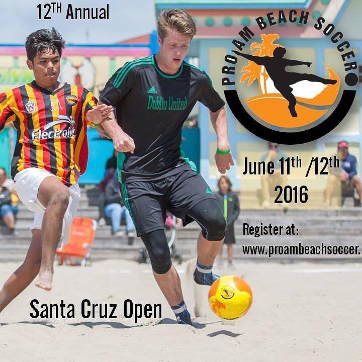 Santa Cruz CA: 12th Annual Santa Cruz Open! June 11th / 12th.  Registration now open at www.proambeachsoccer.net/Santa Cruz Bring on the local derby's and defending champions! #battlebytheboardwalk #santacruz #santacruzbeachboardwalk #santacruzfc @yourbeachsoccer @beachsoccer @portlandbsc @beachsoccerusa @alamedasoccerclub @ysazzurri @bricenosoccer @unionsacfc @castrovalleysoccerclub @deanzaforcesoccer @marinfc00blue @marinfc99red @mvsc2014 @centralmarinmagicgirls @novatoasb @norcalpresoccer…