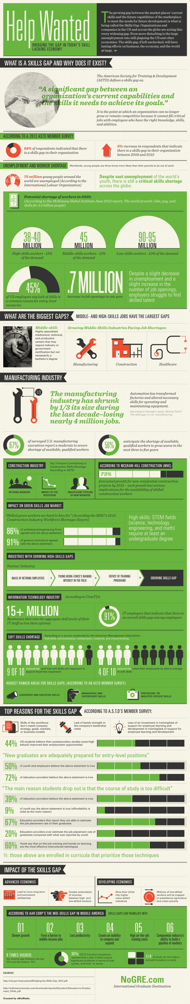 The Skills Gap Infographic - http://elearninginfographics.com/skills-gap-infographic/