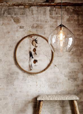 Mr Ralph - Glass Pear Pendant - Large - Madame Stoltz, Pendants$489 39x45 cm