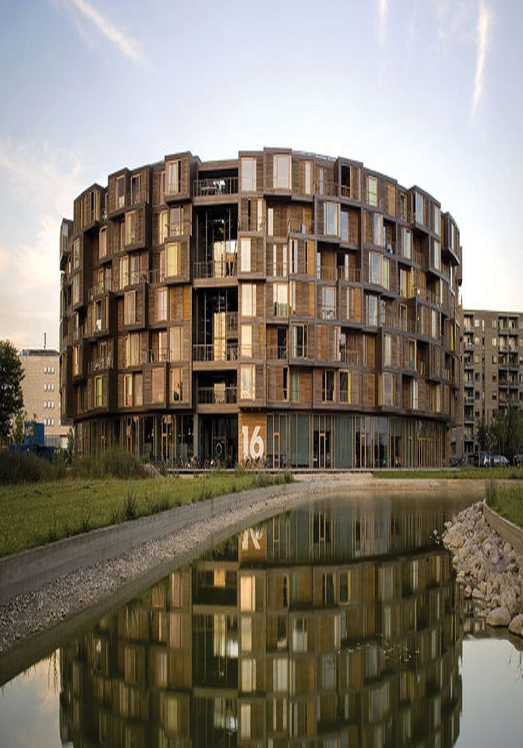 The Tietgenkollegiet student residence in the Ørestad district of Copenhagen is an acclaimed architectural development and winner of the prestigious RIBA European Award #sustainable #architecture