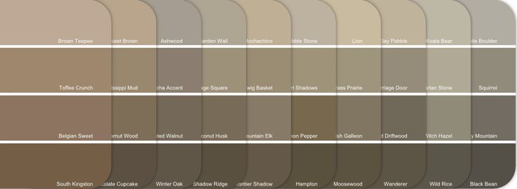 Kwal paint color chart paint cheat sheet neutral for Modern neutral paint colors