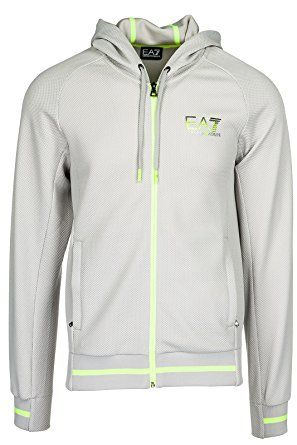 0fb979984 Emporio Armani EA7 Men's Hoodie Sweatshirt Sweat Grey Review | Men ...