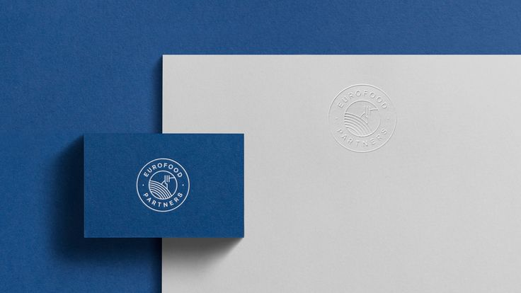 Eurofood Partners embossed letterhead and foil stamp business cards detail