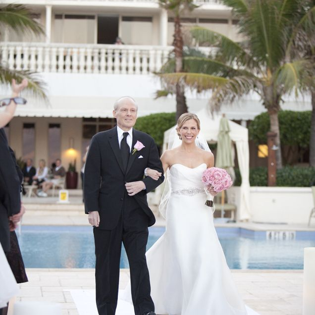 Father Of The Bride Wearing A Beautiful Black Suit For Daytime Outdoor Wedding