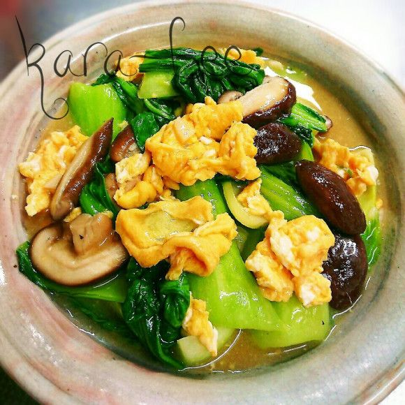 チンゲン菜とふんわり卵のとろりん中華あんかけ☆スピード10分
