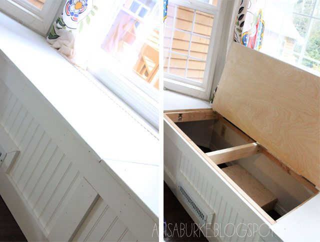84 best images about bay window seat on pinterest window for Bay window nook bench