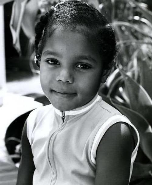 Young Janet Jackson  (Most of us older ones watched her grow up to such a good role model)