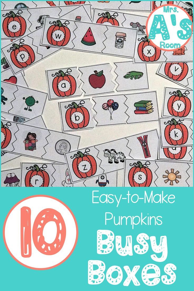 Ten Easy-to-Make Pumpkins Busy Boxes | Fall | Pinterest ...