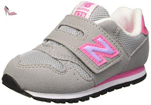 New Balance NBKV373FLI, Debout Chaussures Bébé Bébes, Jaune (Grey Pink), 22 1/2 EU - Chaussures new balance (*Partner-Link)