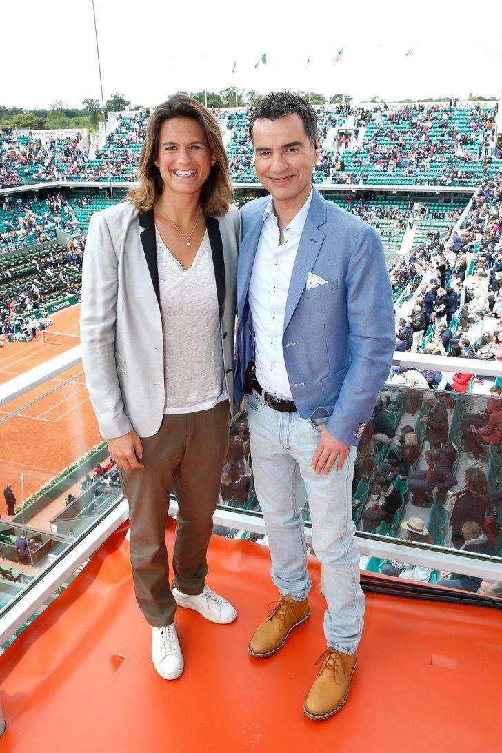Pin for Later: Quand les Stars Se Rendent à Roland Garros Amélie Mauresmo et Laurent Luyat