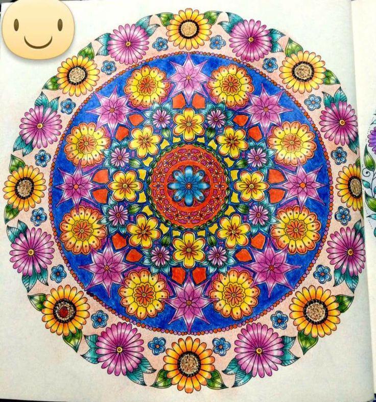 Mandala Circle Secret Garden Circulo Jardim Secreto Johanna Basford BasfordColoring BooksMandalasVintage
