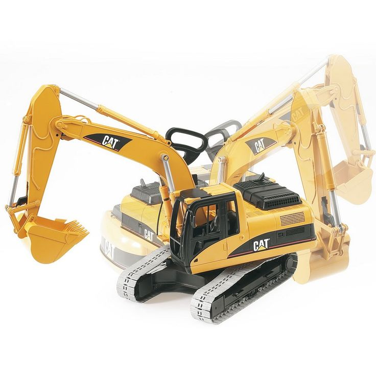 This Bruder Cat Excavator features realistic look, realistic functioning, and superb play value and quality! Manufactured by Bruder. Recommended for 4 years, 5 years, 6 years.