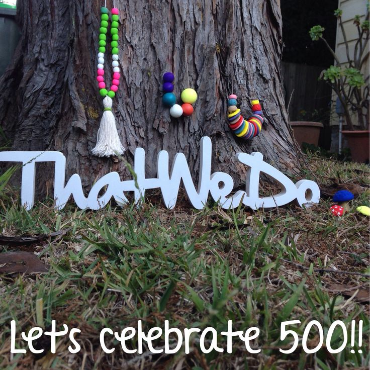 We are almost at 500 likes on Facebook and when we get there we are going to celebrate!!