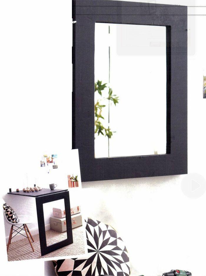 Il vostro interno è un po 'piccolo e siete alla ricerca di spazio? Beh si potrebbe installare un tavolino pieghevole che oltre a base da appoggio per uno spuntino o come angolo scrivania funge anche da specchio.
