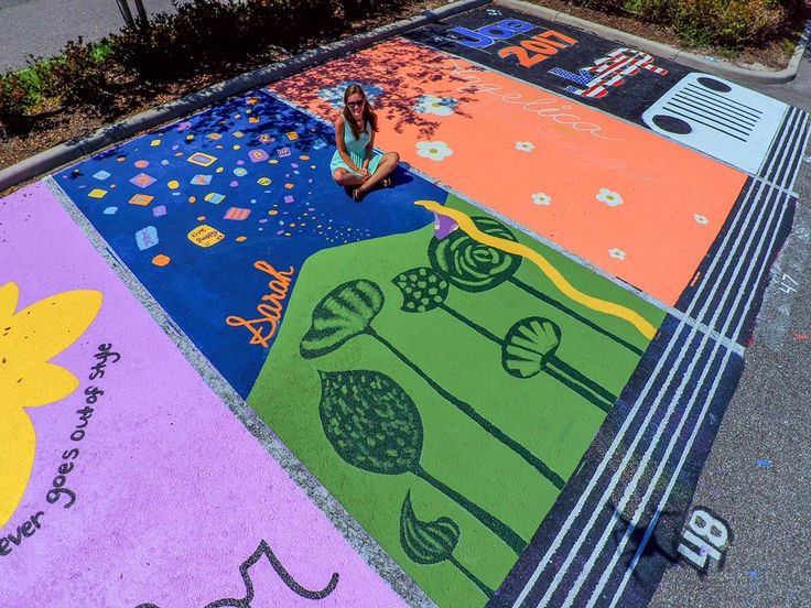 These students painted their parking spots, and the results are a win for arts…