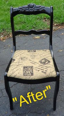 That's Not Junk...Refurbished Recycled Furniture. Paris themed accent or desk chair