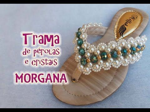 Trama de pérolas e cristais MORGANA - YouTube