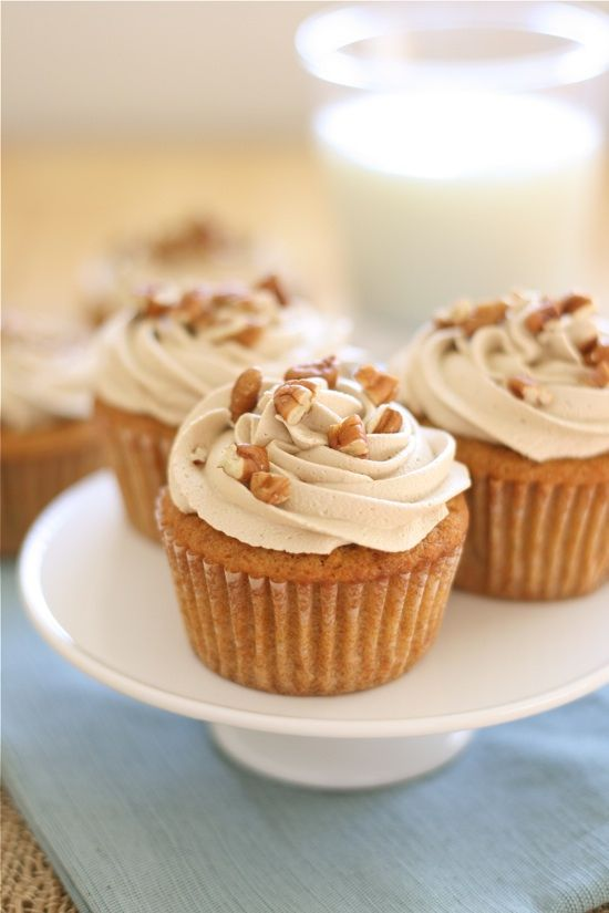 Sweet potato cupcakes with Brown sugar marshmallow frosting :)