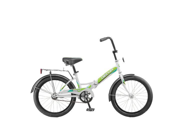 """Велосипед складной 20"""" Десна-2100 бело-зеленый"""