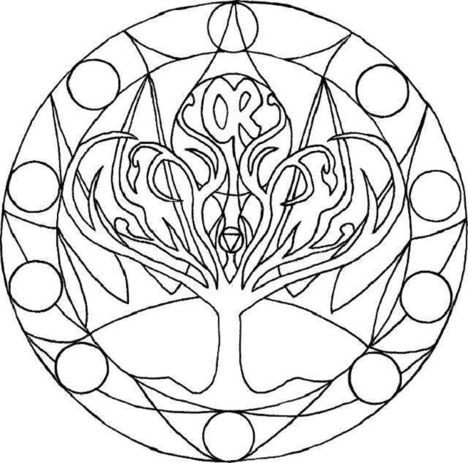 chakra symbols coloring pages - photo#18