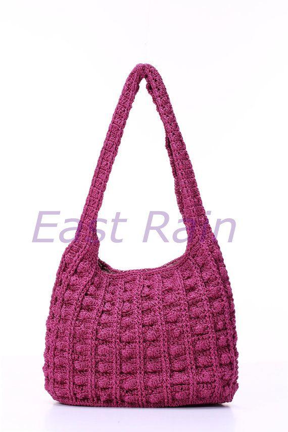 crochet crochet bag shoulder bag handbag handmade girl ♡ by EastRain