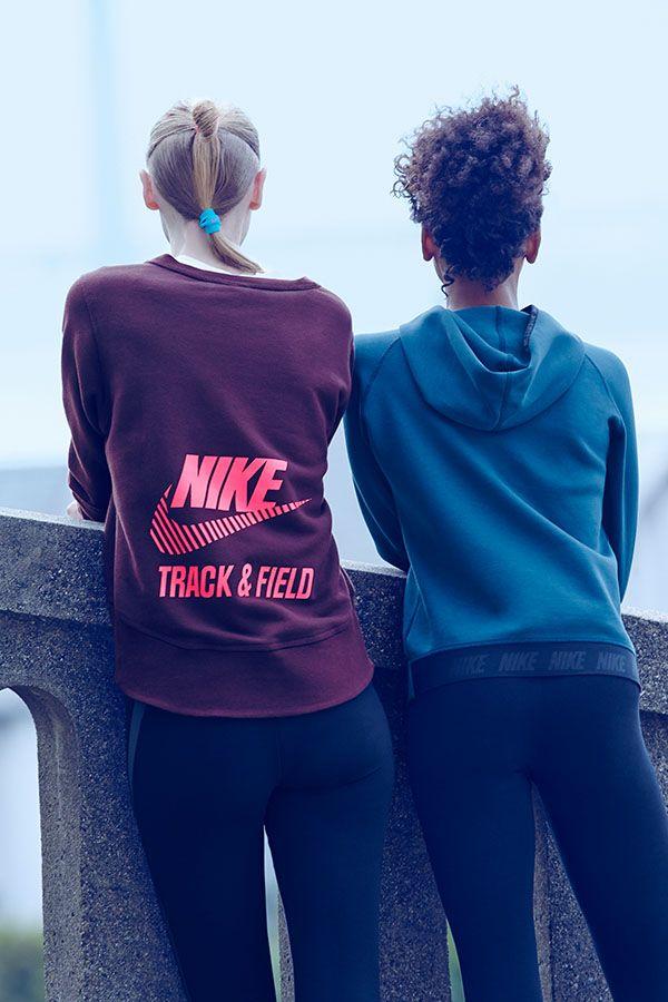 Nike Track and Field Crew Sweatshirt and Tech Hoodie.
